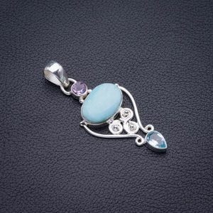 Necklace larimar topez and Amethyst